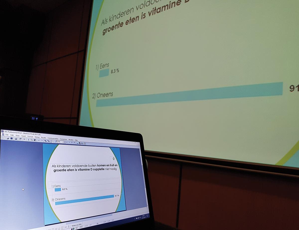 Vragen tijdens de presentatie op het scherm